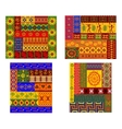 Colorful African ethnic patterns vector image vector image