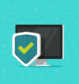 computer protection icon isolated flat vector image