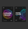 cover banner card music placard set with abstract vector image