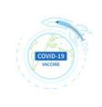 covid19-19 vaccine distribution worldwide ready vector image