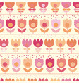 cute pastel rosy spring flowers seamless pattern vector image