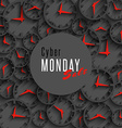 Cyber monday sale banner mockup special promo vector image vector image