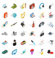 employment icons set isometric style vector image vector image
