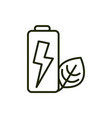 energy battery power environment ecology line and vector image