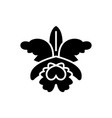flower - orchid icon black vector image