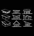 freehand drawing home roof design vector image