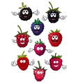 Funny raspberry blueberry and blackberry vector image vector image
