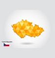 geometric polygonal style map of czech republic vector image vector image