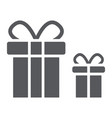 gift boxes glyph icon package and surprise vector image vector image