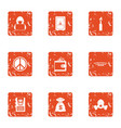 happy money icons set grunge style vector image vector image