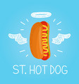 heaven hot dog concept st hot dog vector image