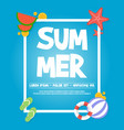 holiday summer party poster design vector image vector image