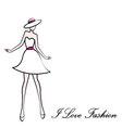 I love fashion vector image