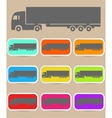 Icon trucks with refrigerator vector image vector image