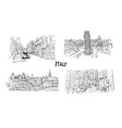 italy streets collection sketch for your design vector image vector image