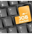 Job market key on the computer keyboard vector image