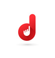 Letter D hand logo icon design template elements vector image