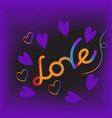 love and valentine day lettering vector image vector image