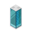 network server rack isometric 3d icon vector image vector image
