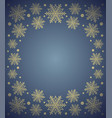 new year background card with snowflake blue vector image