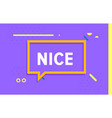 nice banner poster and sticker concept with vector image vector image