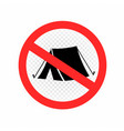 no camping set sign icon symbol vector image vector image