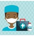 nurse man first aid medicine vector image