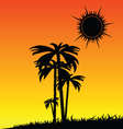 palm in the nature color vector image