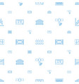 panel icons pattern seamless white background vector image vector image