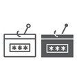 password fishing line and glyph icon security vector image vector image