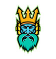 poseidon greek god mascot vector image