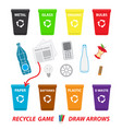 recycling game for children education vector image