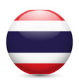 Round glossy icon of thailand vector image vector image