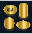 royal golden vintage shiny labels design set vector image
