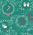 Seamless pattern with Christmas elements vector image vector image