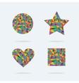 set bright symbols vector image vector image