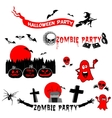 set halloween party labels badges and design vector image vector image