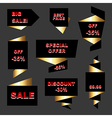 Set of stickers and labels vector image vector image