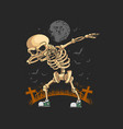 skeleton dabbing dance graphic vector image vector image