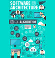 software architecture banner network technology vector image vector image