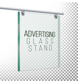 square advertising glass board 3d vector image vector image