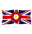 union jack with english rose vector image