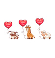 Valentine animals vector image vector image