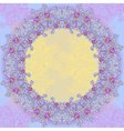 Violet abstract design round frame vector image vector image