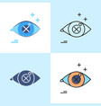 vision problem concept icon set in flat and line vector image