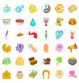 volunteer icons set cartoon style vector image vector image