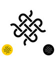 weave knots celtic style logo intersected textile vector image