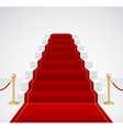 White Staircase and Red Carpet vector image