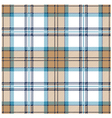 White Tartan Design vector image