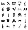 winery icons set simple style vector image vector image